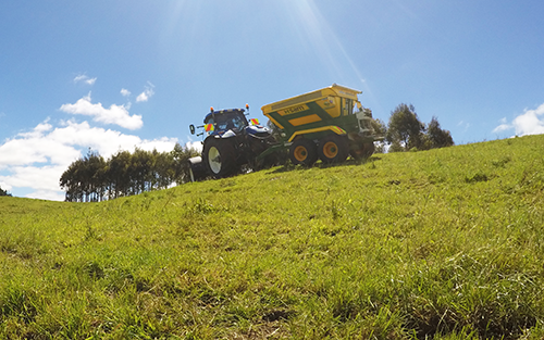 Fert Spreading on a hillside